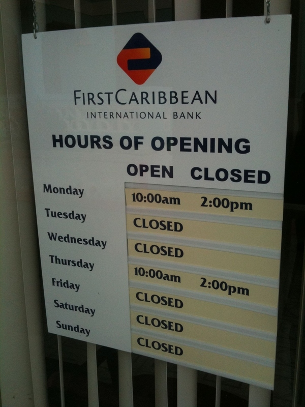 Caribbean Bank Hours