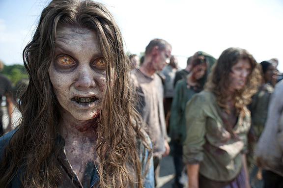 "First Look At Zombies From Season 2 Of ""The Walking Dead"""