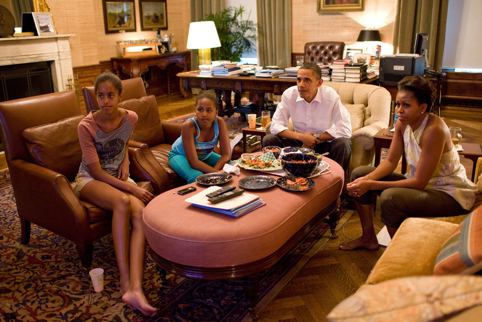 The Obamas Watching The Women's World Cup Final