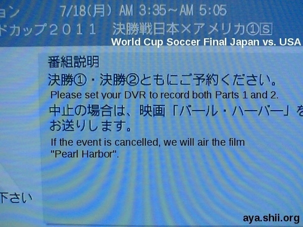 If the Women's World Cup Final Is Cancelled ...