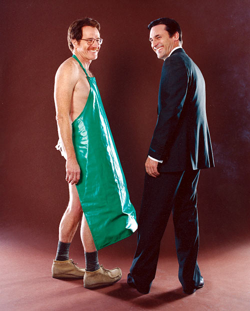Jon Hamm And Bryan Cranston Together In Costume