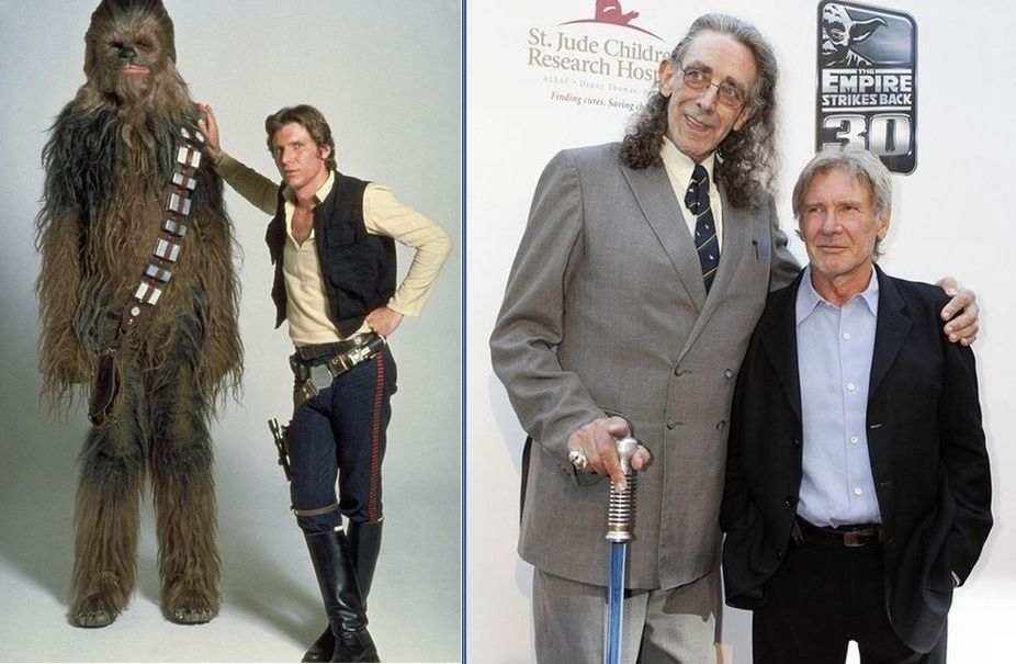 Chewbacca And Han Solo Then And Now