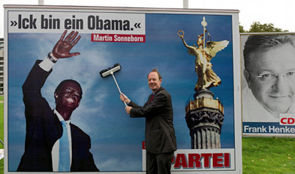 Obama Blackface Billboard In Germany