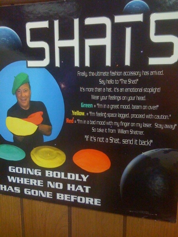 Shats: William Shatner Sponsored Hats