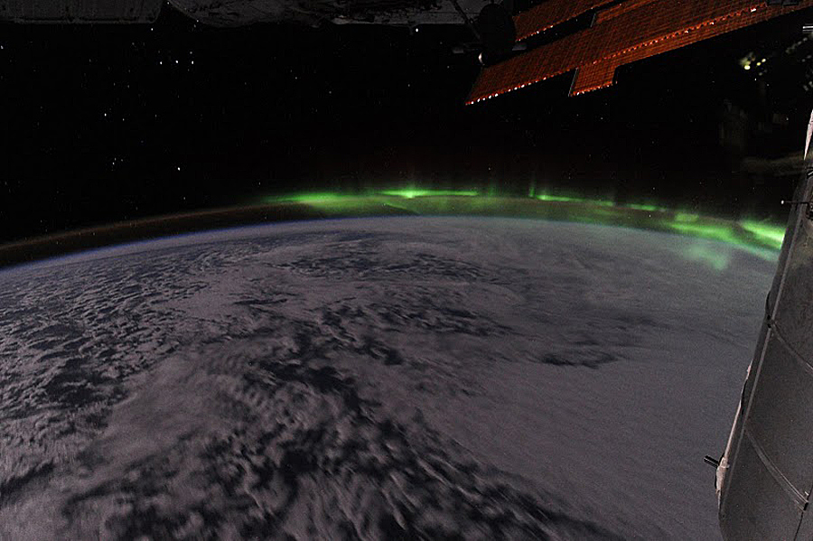 Southern Lights As Seen From Space