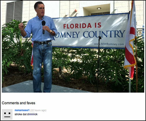 Maybe Mitt Romney Should Check His Flickr Page