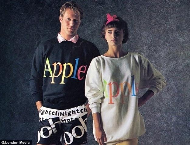 When Apple WASN'T Cool: Apple's Fashion Merchandise Via 1980's