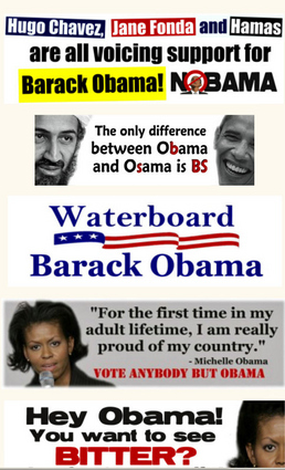 "Sacramento, CA, GOP Party Website : ""Waterboard Barack Obama"""