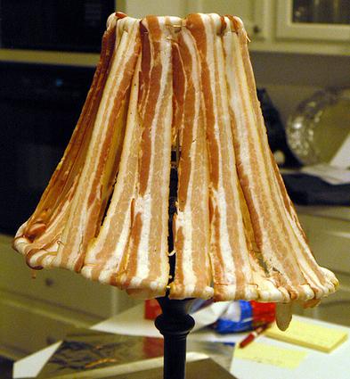 Bacon Lampshade Borders On Creepy