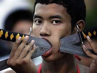 Phuckett Vegetarian Festival Sword Piercing!