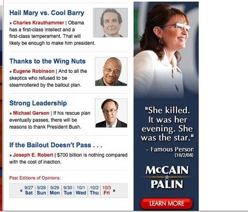 Famous Person on Palin: She Killed