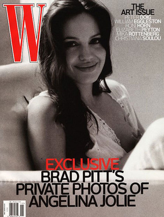 W Cover Features Angelina Breastfeeding
