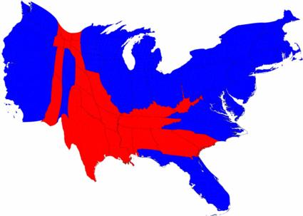 Cartograms for 2008 Election