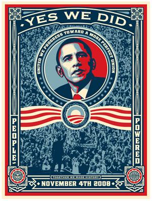 Shepard Fairey's New Obama Print