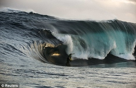 Surfer Kerby Brown Takes On a 41 Foot Wave!