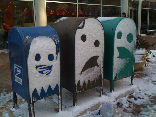Pac-Man Mailboxes