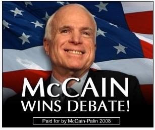 """""""McCain Wins Debate!"""""""
