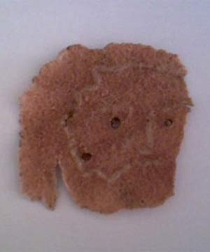Face of Jesus On Piece of Pita Bread!