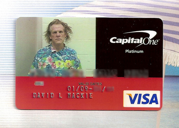 Capital One's Nick Nolte Mugshot VISA Card