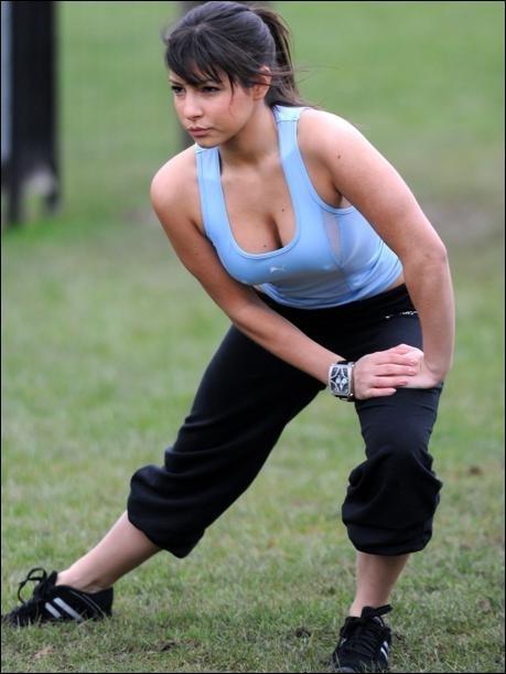 Roxanne Pallett Sexy Work-out