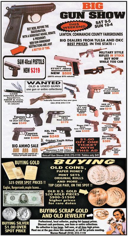 Pre-Inauguration Gun Sale