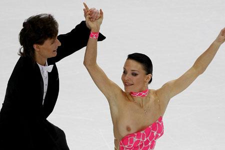 (NSFW) Russian Figure Skater's Wardrobe Malfunction