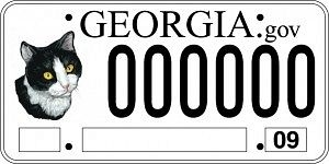 Winner of the Georgia Department of Agriculture's Spay-neuter License Plate Design Contest!