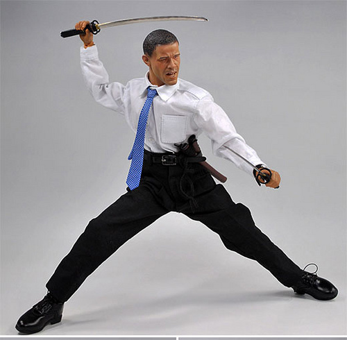Obama Samurai  Figure