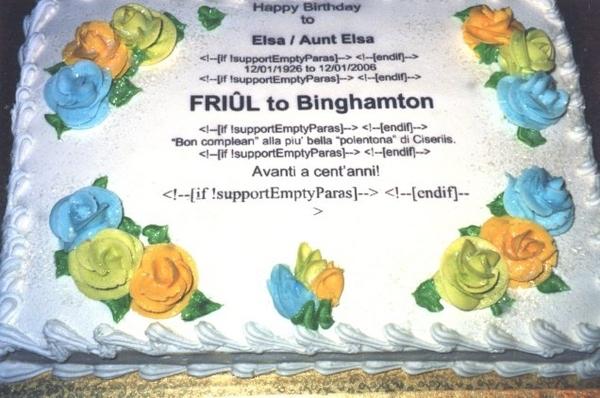 E-Mail Cake Fail