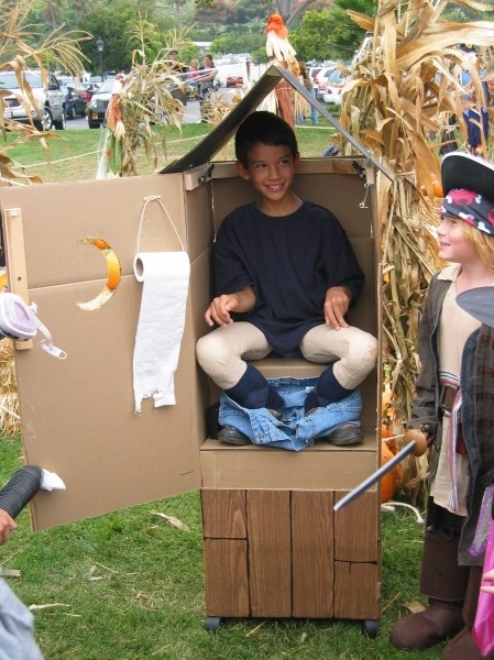Porta-potty Homemade Costume