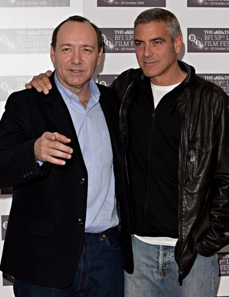 "George Clooney and Kevin Spacey Are ""Men Who Stare At Goats"""