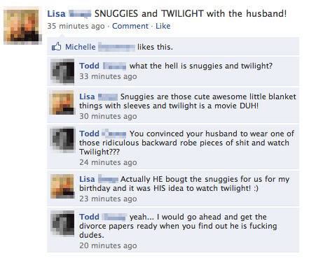 Snuggies and Twilight