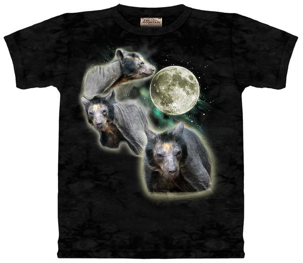 3 Bald Bear Moon Tee