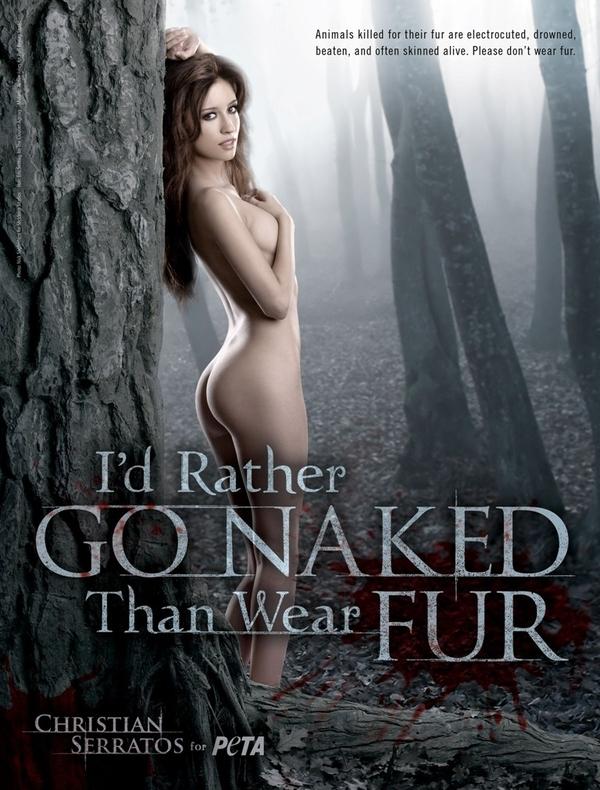 Twilight Star Christian Serratos Does Naked PETA Ad NSFW