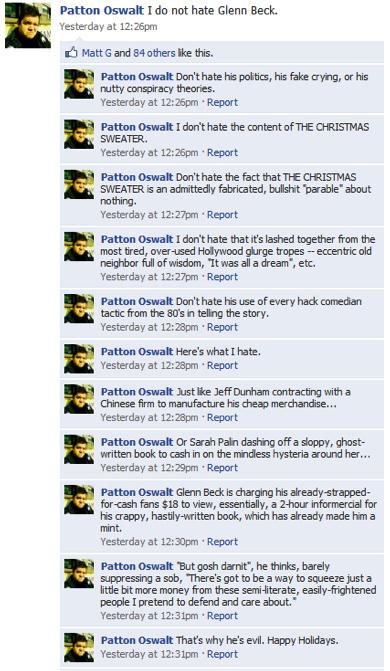 Patton Oswalt Does Not Hate Glenn Beck