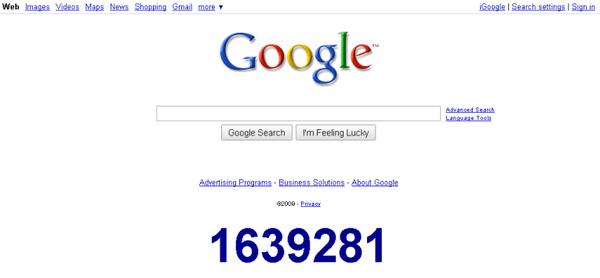 Secret Google Counter