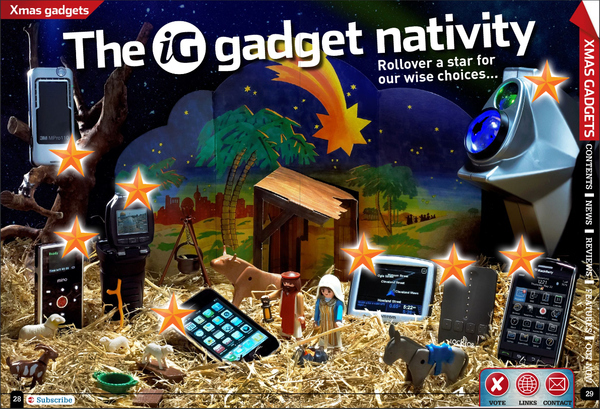 Nativity Made from Gadgets