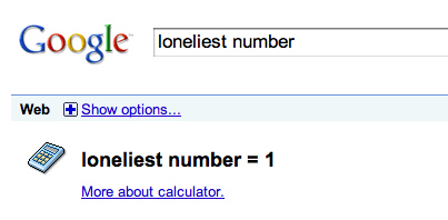 Google Proves 1 is the Loneliest Number