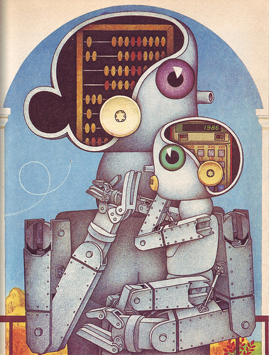 Soviet-era Robot Illustrations