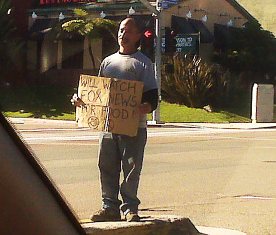 Very Desperate Homeless Man