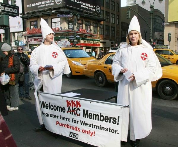 PETA Protests Dressed As Klan Members