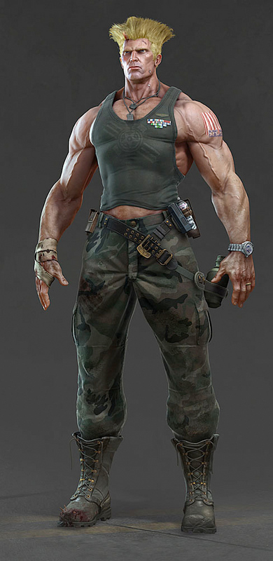 Bad-Ass 3D Guile from Street Fighter