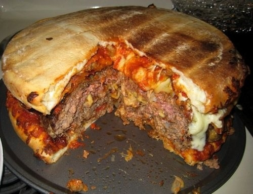 Bacon Cheese Pizza Burger!!!