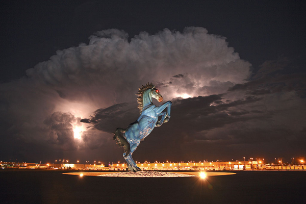 Denver International Airport's Spooky 32 Foot Mustang