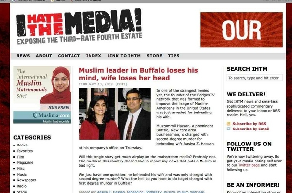 "Funny Juxtaposition of ""Muslim Matrimonials"" Ad and Buffalo Beheading Article"