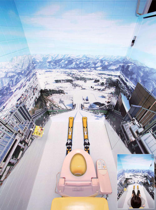 Japanese Ski Resort Bathroom