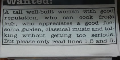 Clever Personal Ad