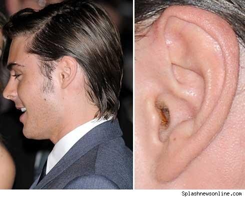 Zac Efron's Ear Wax