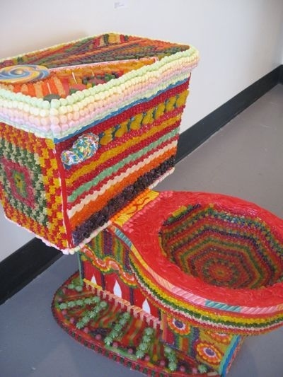 Toilet Made Out of Candy