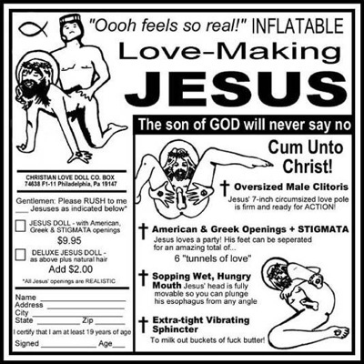 Inflatable Jesus Sex Doll  (NSFW)